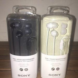 Sony headphones  brand new bundle white and black